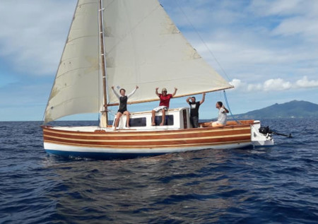 Construction sloop bermudien