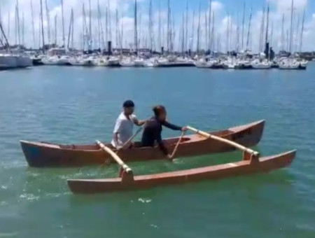 construction pirogue en contreplaque